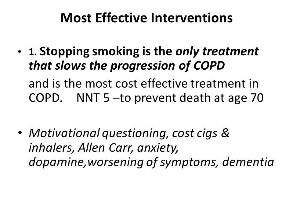 Most Effective Interventions 1.