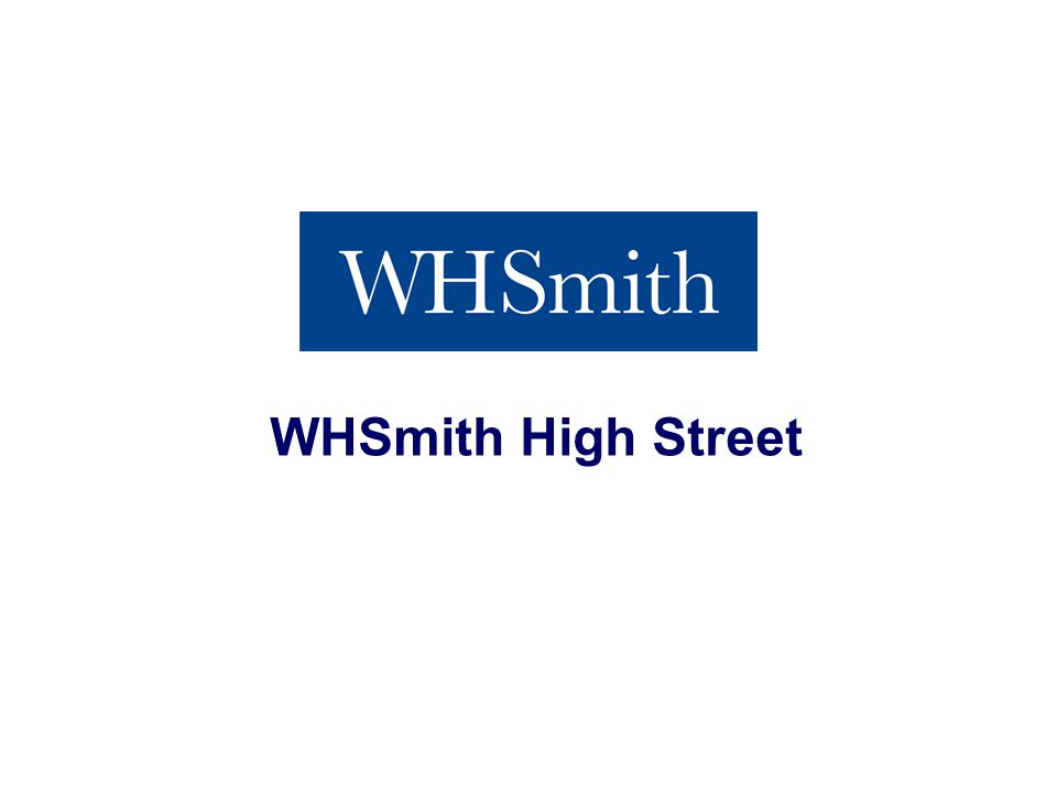 Interim Results 2013 WHSmith High Street