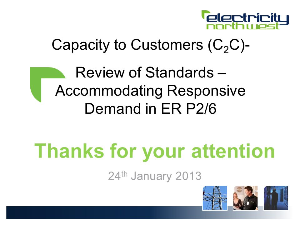 C 2 C Standards Review– SUMMARY 66 Is minimum change to ER P2/6 sufficient to accommodate responsive demand