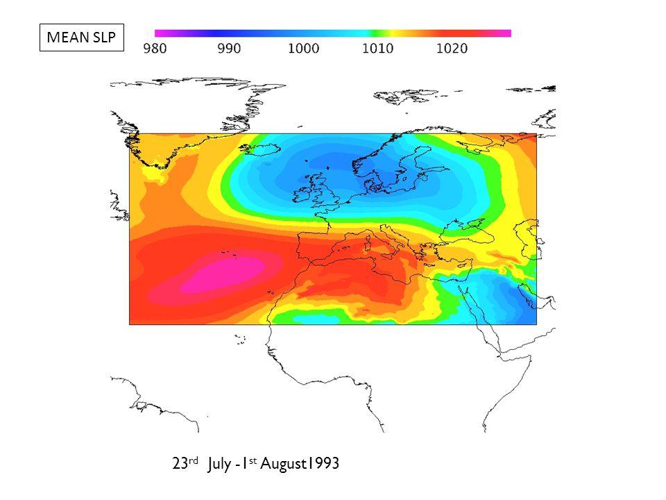 14 th – 23 rd July 1999 MEAN SLP
