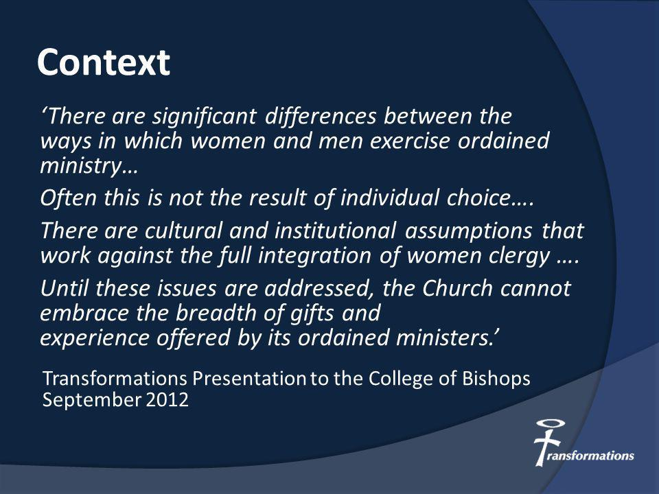 Question for reflection: If these young women go into the church what will enable them to flourish and what unnecessary barriers will they face?