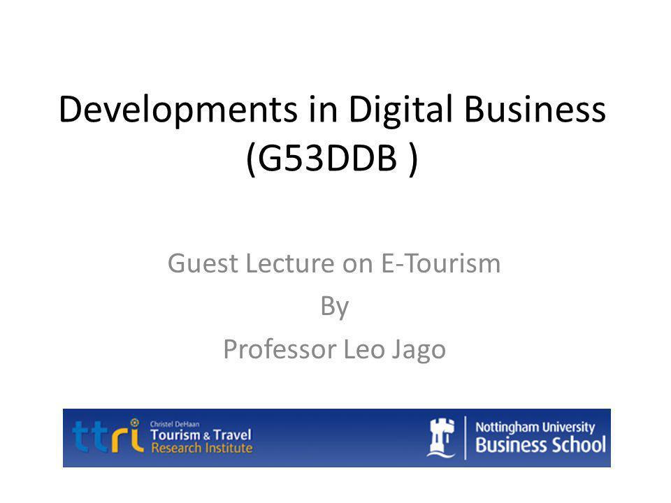 Lecture Outline Role of ICT E-Tourism – Definitions – Outcomes Characteristics of Tourism History of ICT in tourism Benefits of E-Tourism Issues with E-Tourism