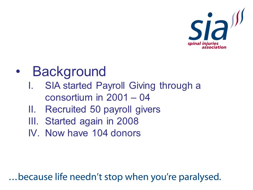 Payroll Giving Now at SIA.
