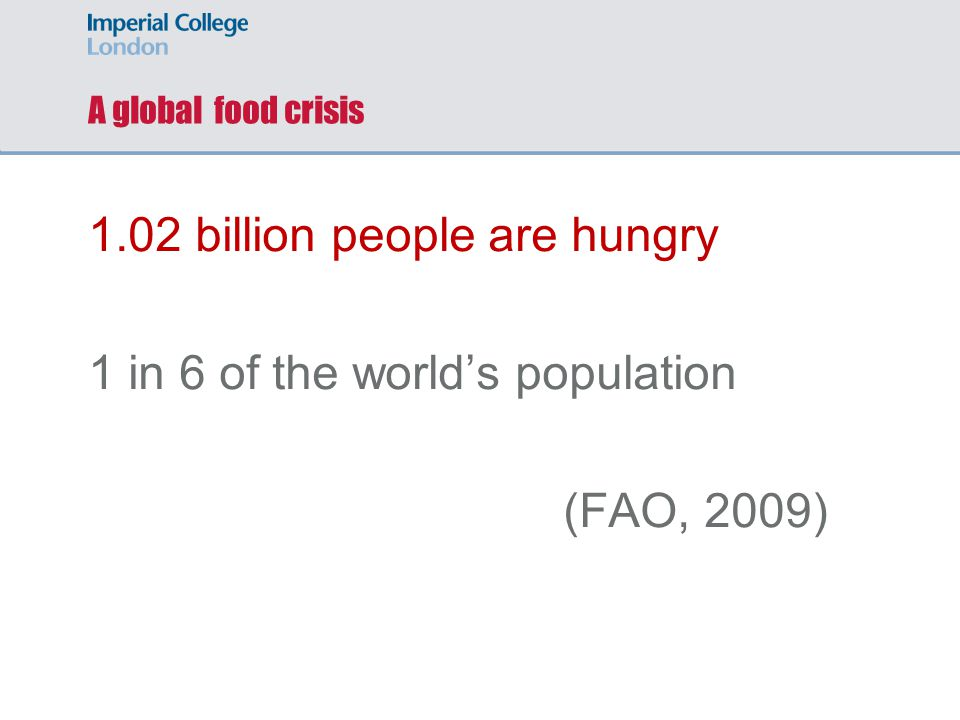 Hunger is on the rise
