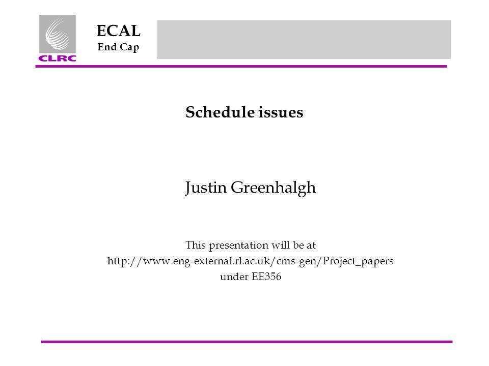Jul 2003 ECAL End Cap EE/356/RJSG/2003Justin Greenhalgh - RAL 12 Crystal numbers