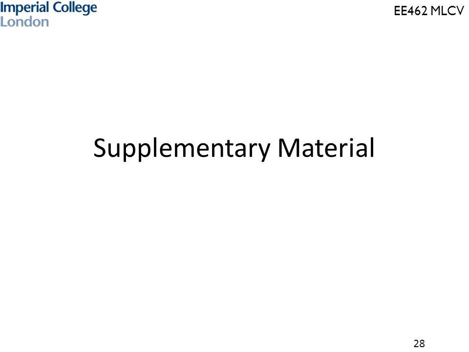 EE462 MLCV 28 Supplementary Material