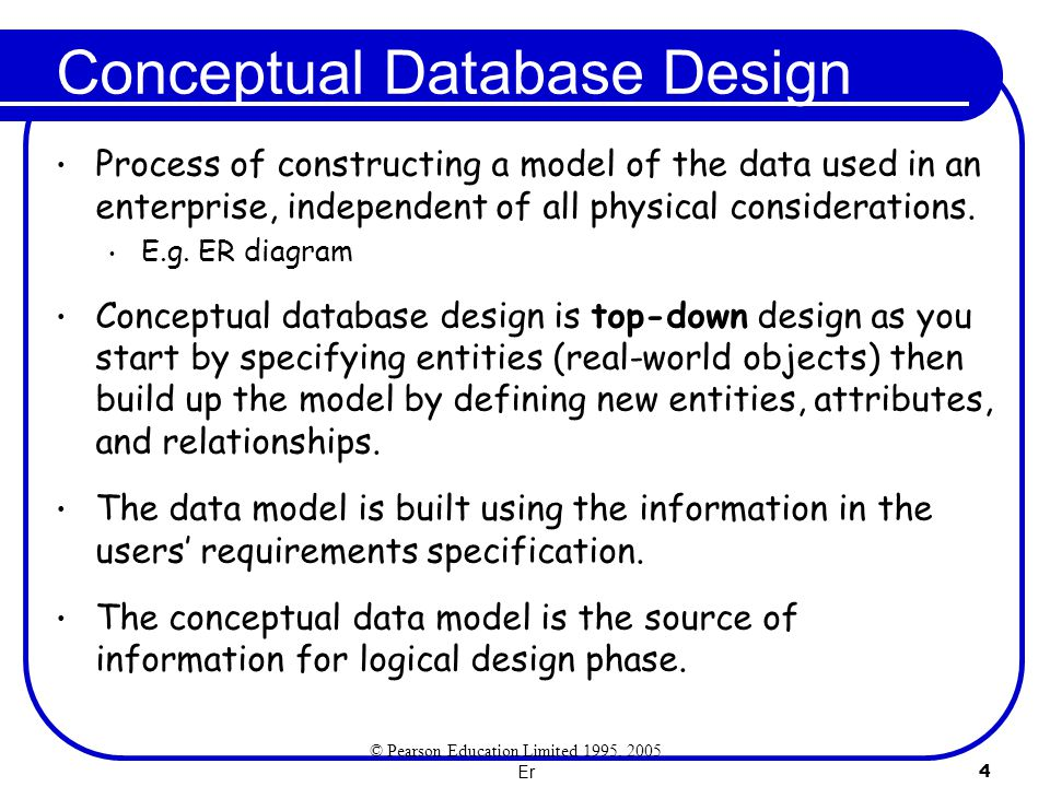 Er 5 Conceptual Design with the ER Model The questions we need to ask are: 1.