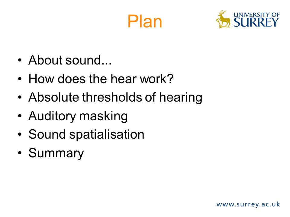 Auditory Masking (definition) Definition: 1.