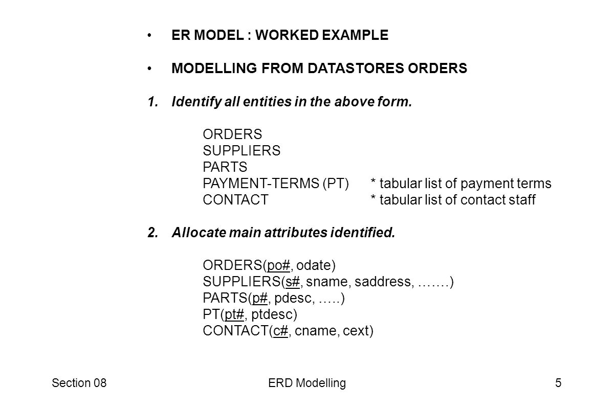 Section 08ERD Modelling26 ERD SAMPLES Ascent Resources Ascent S/W and ERD Solutions Installing Ascent At Home Using Ascent - ER Modeling Library of Free Data Models