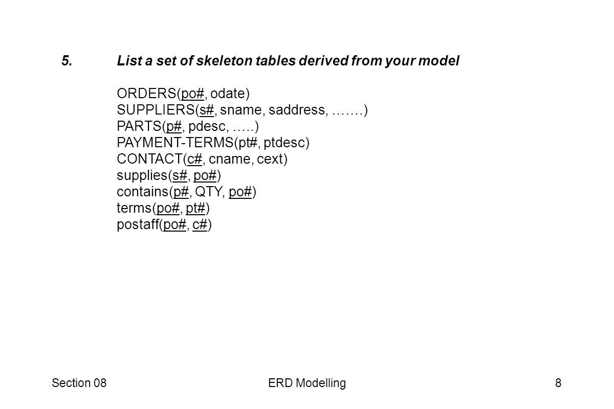 Section 08ERD Modelling9 6.