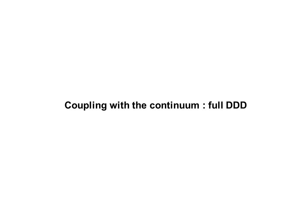 Coupling with the continuum : full DDD