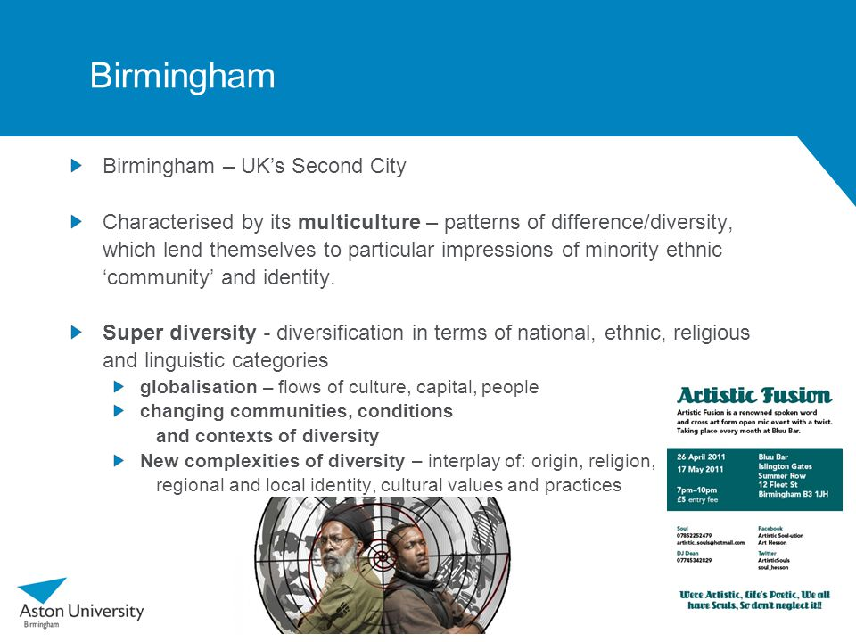 West Midlands English: Speech and Society Tings a gwan : Linguistic Superdiversity in Contemporary Minority Ethnic Artistic Performances Esther Asprey Urszula Clark Brian Dakin Jon Herring Ajmal Hussain Anit Mahay Samia Yasmin