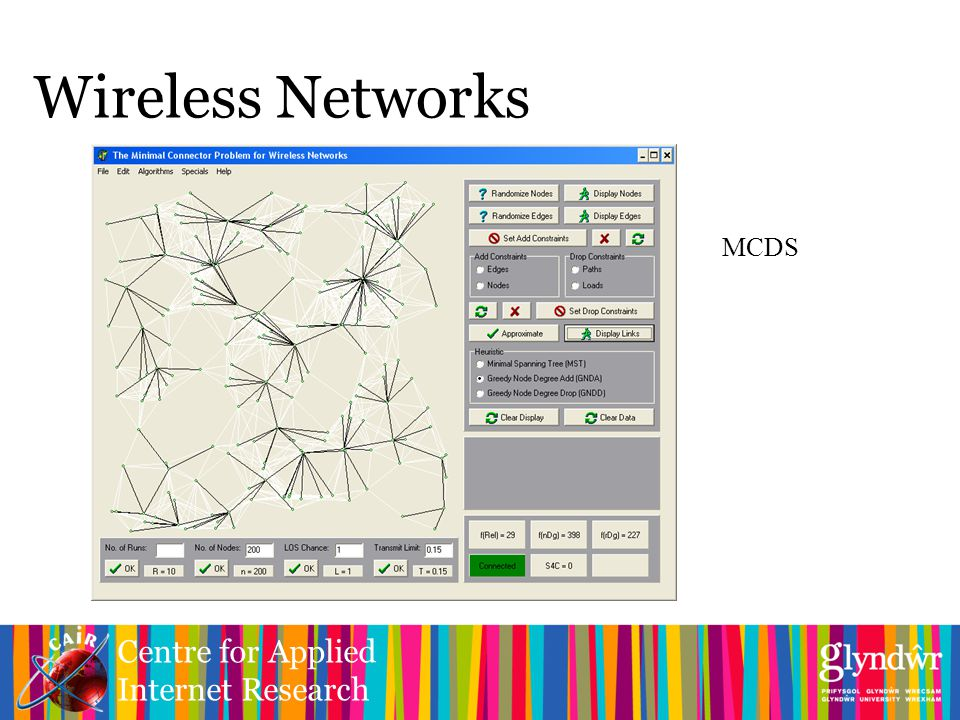 Centre for Applied Internet Research Wireless Networks MCDS