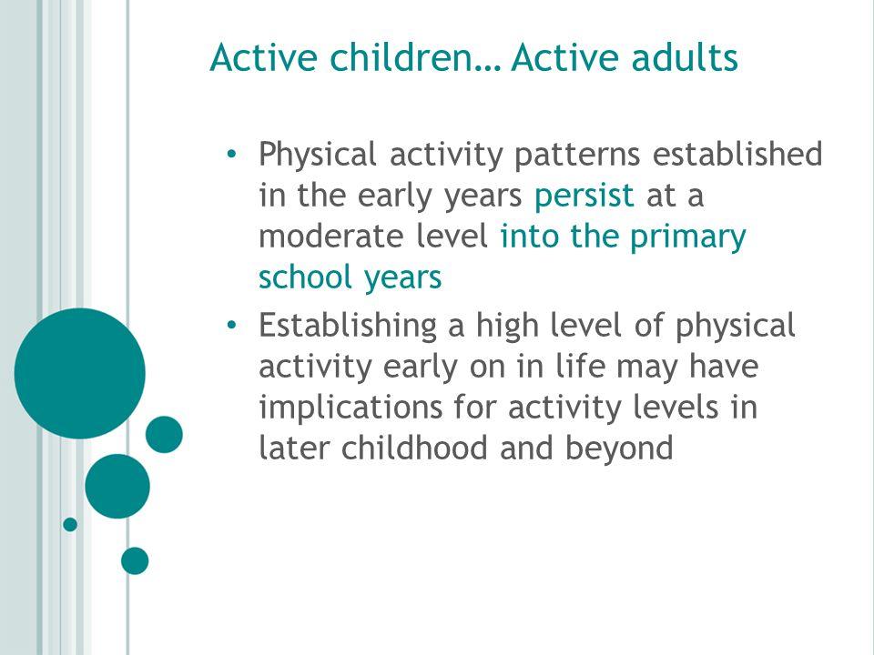 Active children… Active adults .