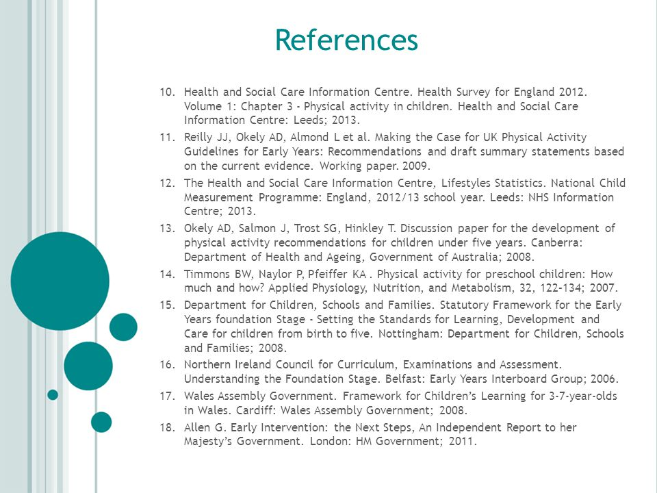 References 10.Health and Social Care Information Centre.