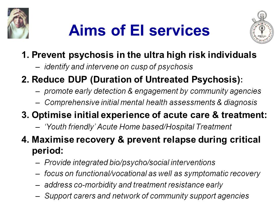 Aims of EI services 1.