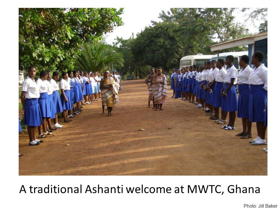 A traditional Ashanti welcome at MWTC, Ghana Photo: Jill Baker