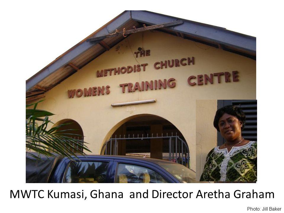 MWTC Kumasi, Ghana and Director Aretha Graham Photo: Jill Baker