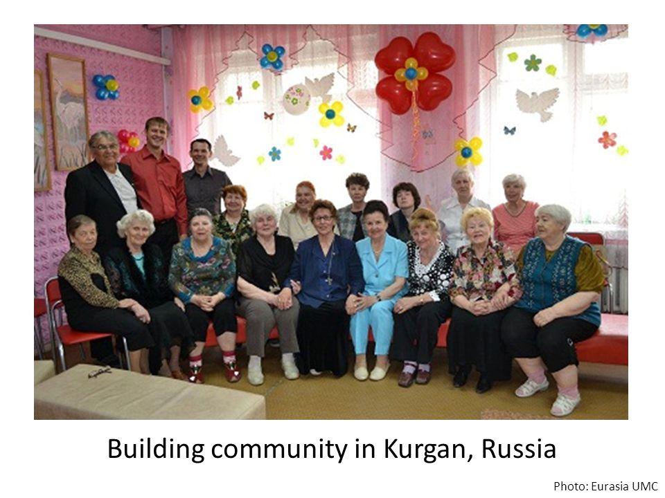 Building community in Kurgan, Russia Photo: Eurasia UMC