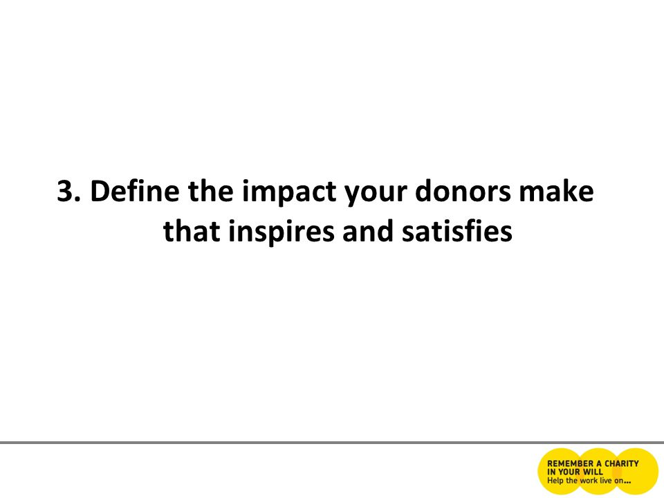 3. Define the impact your donors make that inspires and satisfies