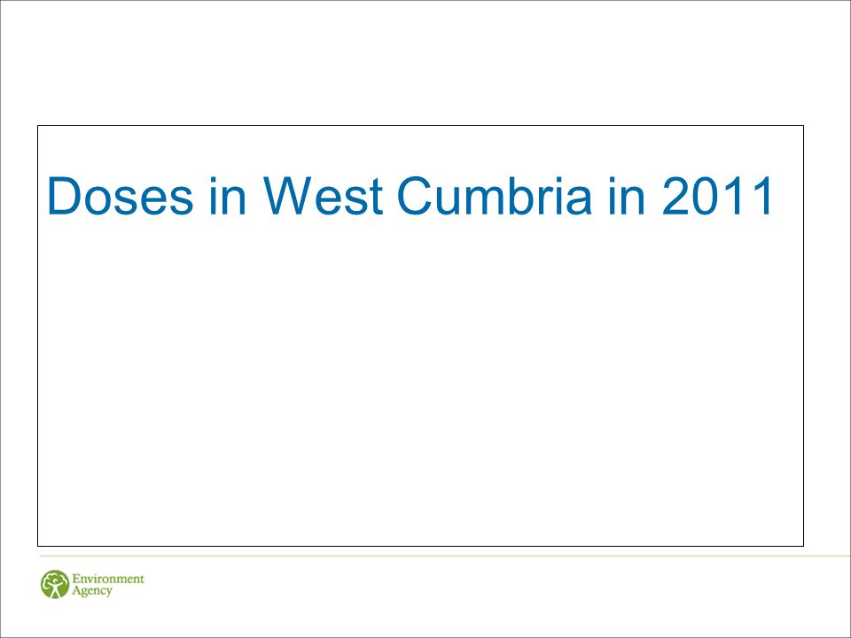 Doses in West Cumbria in 2011