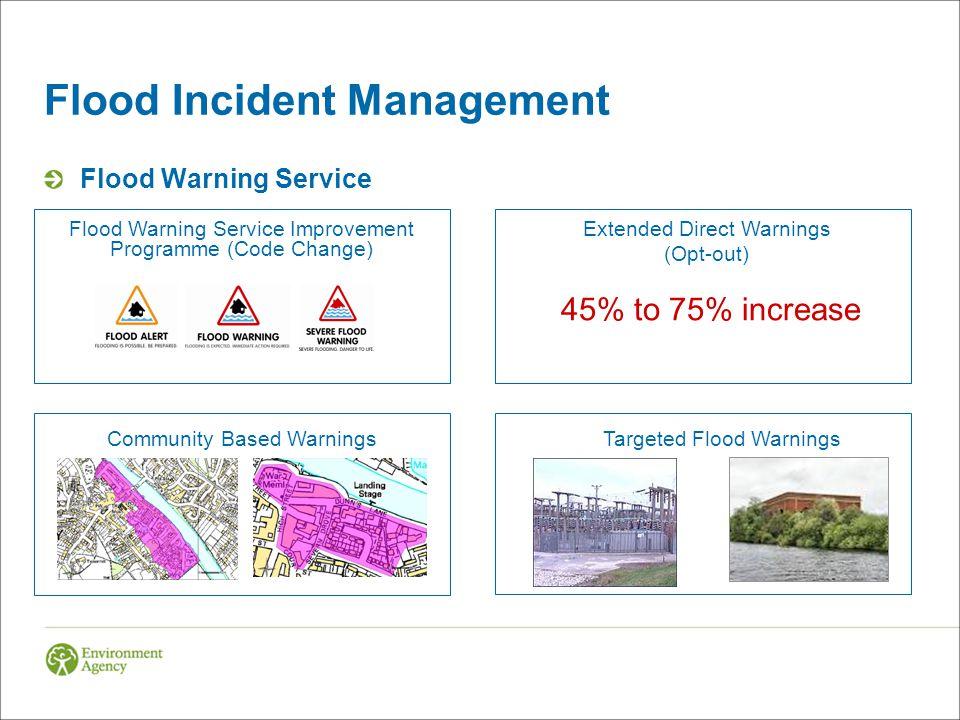 Flood Incident Management Flood Preparation & Information Flood Visualisation Flood Forecasting CentreImproved Flood Forecasts & Gauges River Levels on the Internet