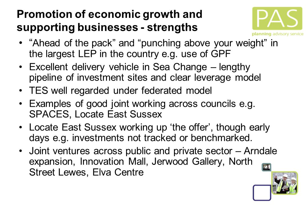 """10 Promotion of economic growth and supporting businesses - strengths """" Ahead of the pack"""" and """"punching above your weight"""" in the largest LEP in the"""