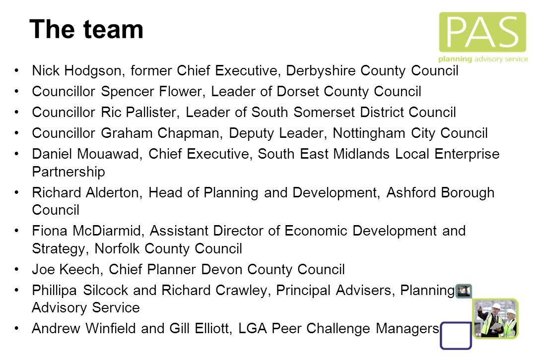 2 The team Nick Hodgson, former Chief Executive, Derbyshire County Council Councillor Spencer Flower, Leader of Dorset County Council Councillor Ric P