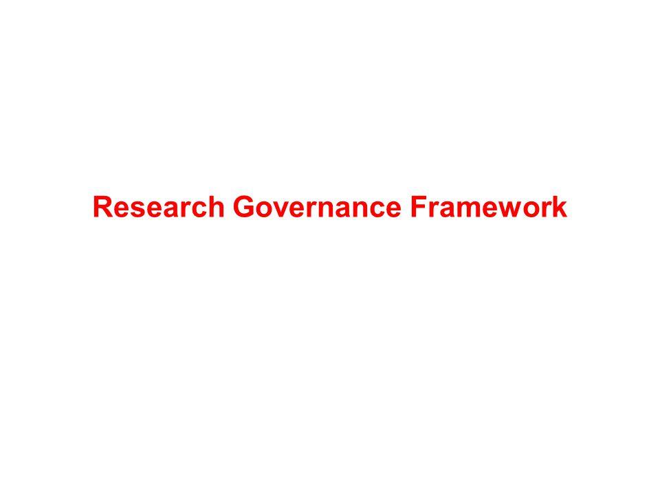 Research Governance Framework