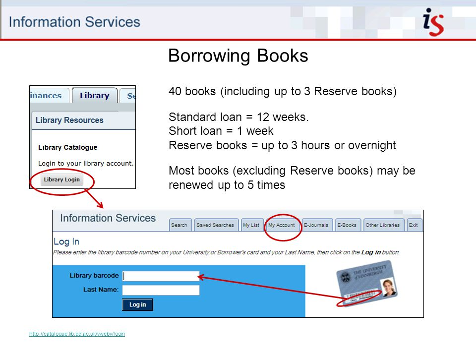 Borrowing Books Fines for overdue books - 20p per day for standard books - 50p per day for short loan books - £1 per day for overdue recalled books (- 2p per minute for overdue reserve books) 5 days grace applies to overdue standard loan books  on day 6, fine is added at cost of 6 days overdue.