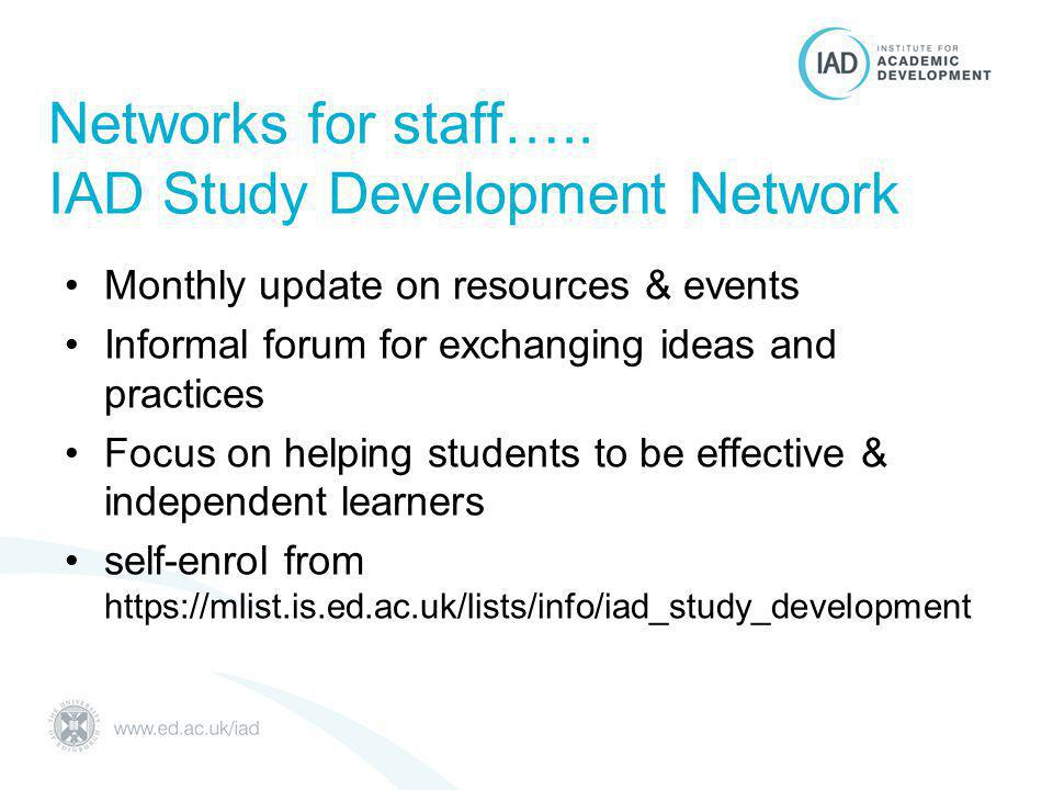 Networks for staff…..