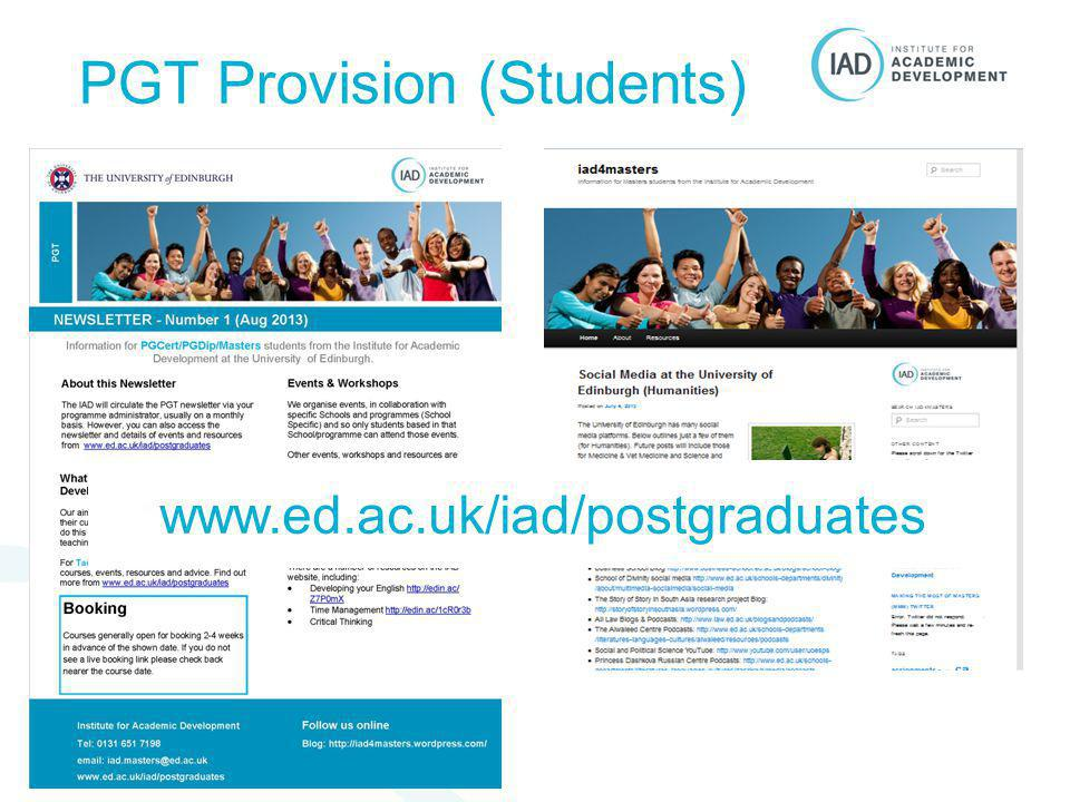 PGT Provision (Students)