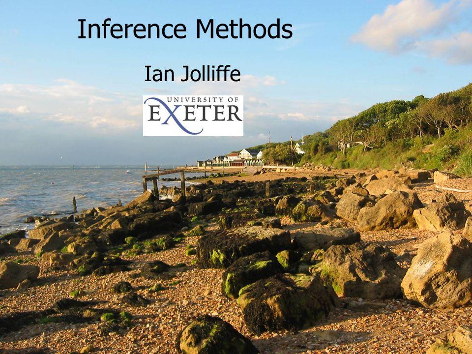 DTC Verification Workshop - Boulder April 2008 1 Inference Methods Ian Jolliffe Inference Methods Ian Jolliffe