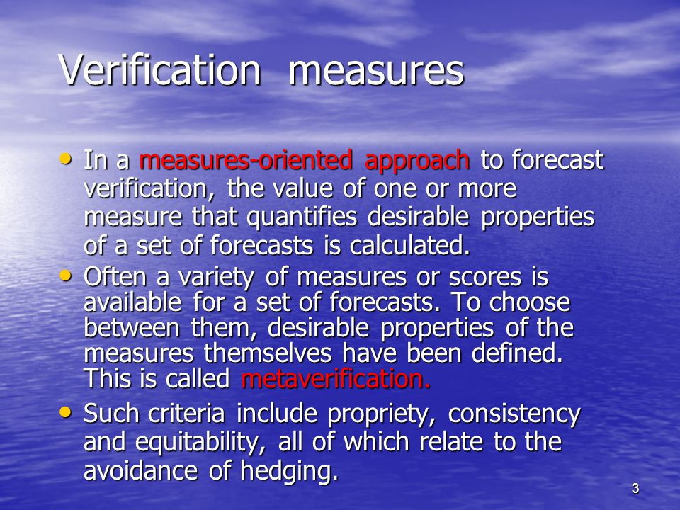 14 Propriety and equitability No scoring system for probability forecasts can be both proper and equitable.