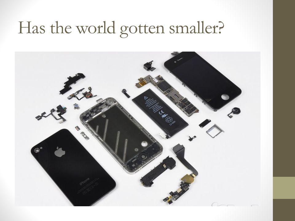 Has the world gotten smaller?