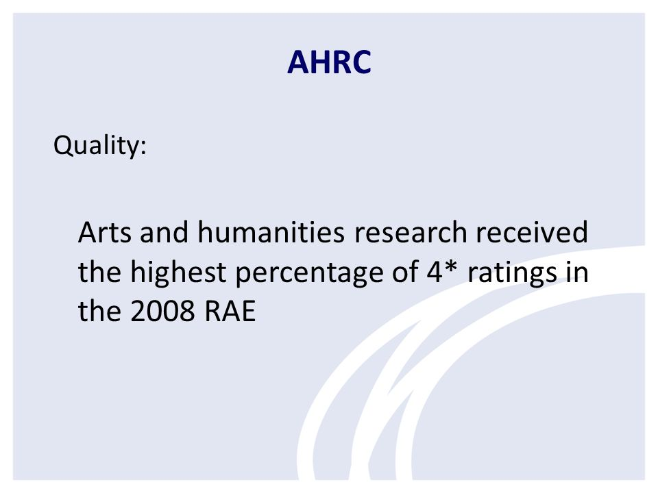 Knowledge Transfer AHRC/BBC outcomes AHRC/BT scheme Policy work (Fellowships and seminars, work with Scottish Funding Council) Creative Industries, Technology and Innovation Network Working with the Technology Strategy Board