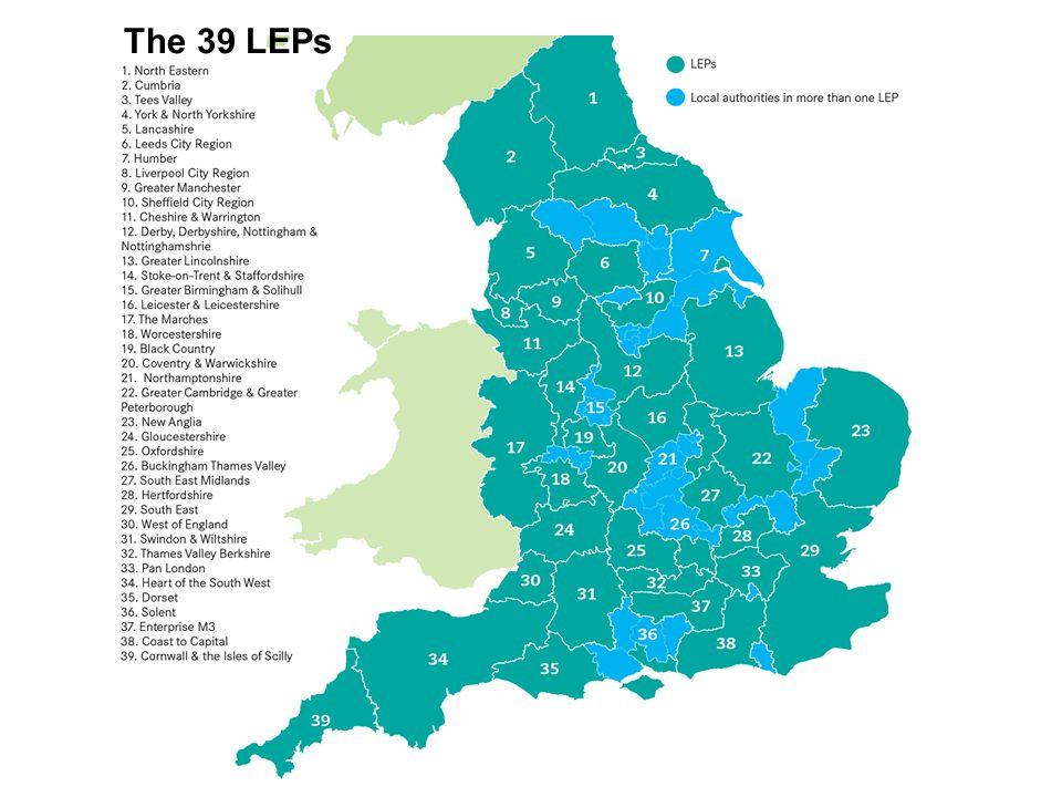 The 39 LEPs