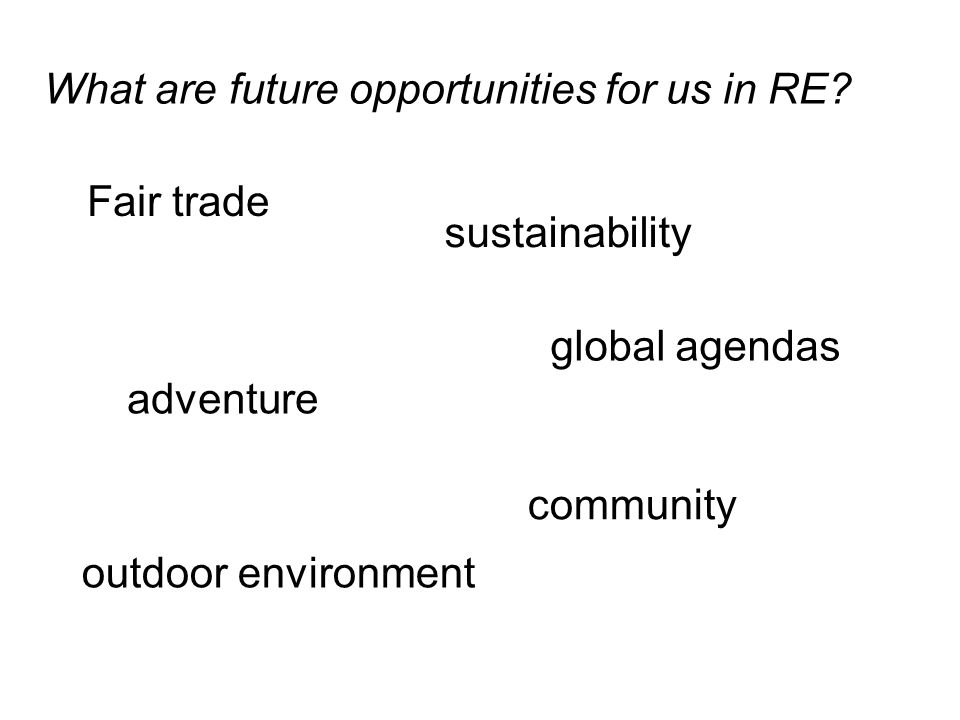 What are future opportunities for us in RE.