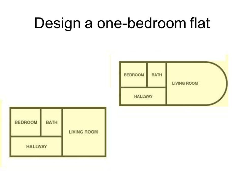 Design a one-bedroom flat