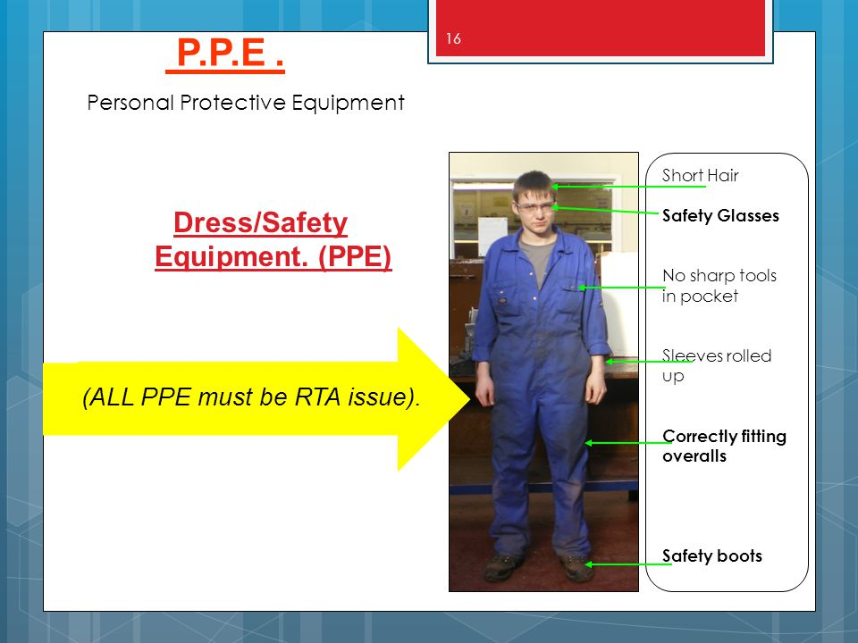 16 Dress/Safety Equipment.