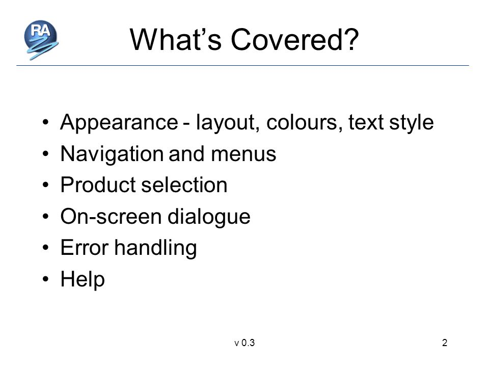 v 0.32 What's Covered.