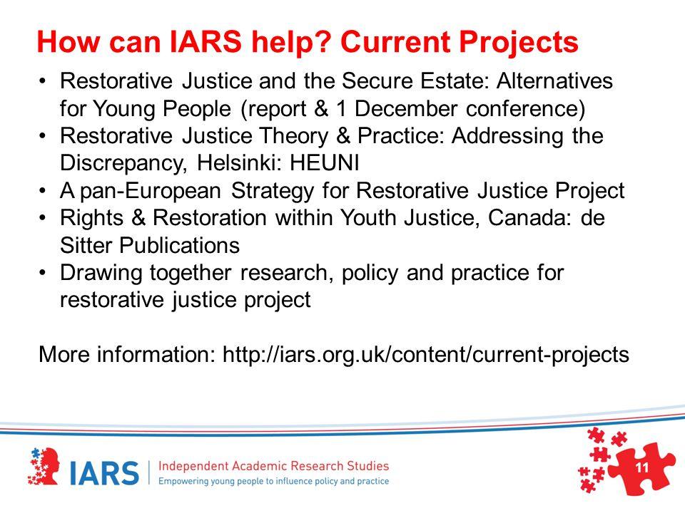 How can IARS help.