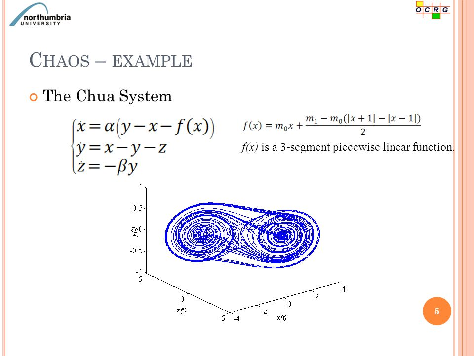 C HAOS – EXAMPLE The Duffing system 6