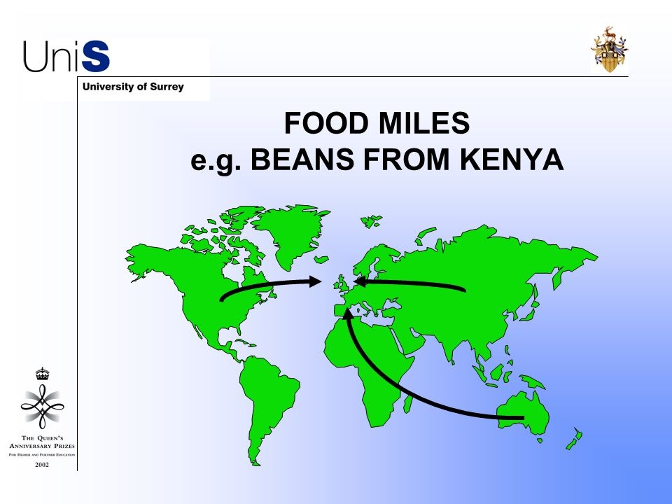 FOOD MILES e.g. BEANS FROM KENYA