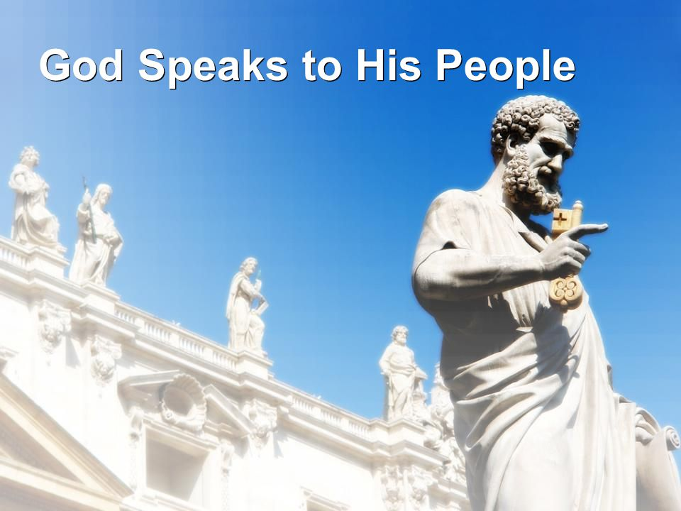 God Speaks to His People