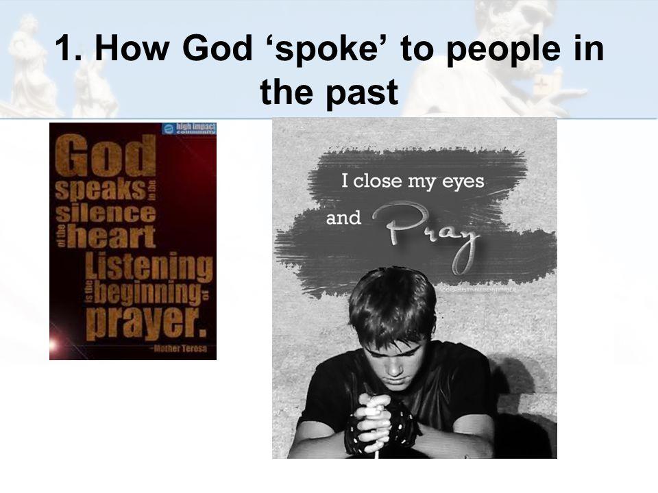 God speaks to Moses http://www.youtube.com/watch?v =LZpYMr-Ed0Q