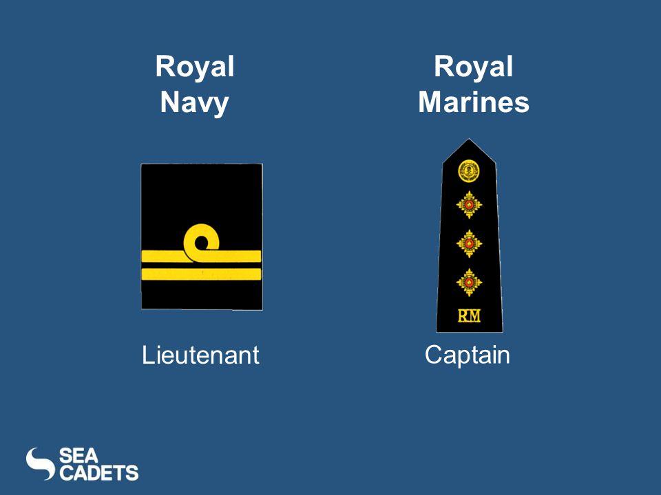Lieutenant Captain Royal Navy Royal Marines
