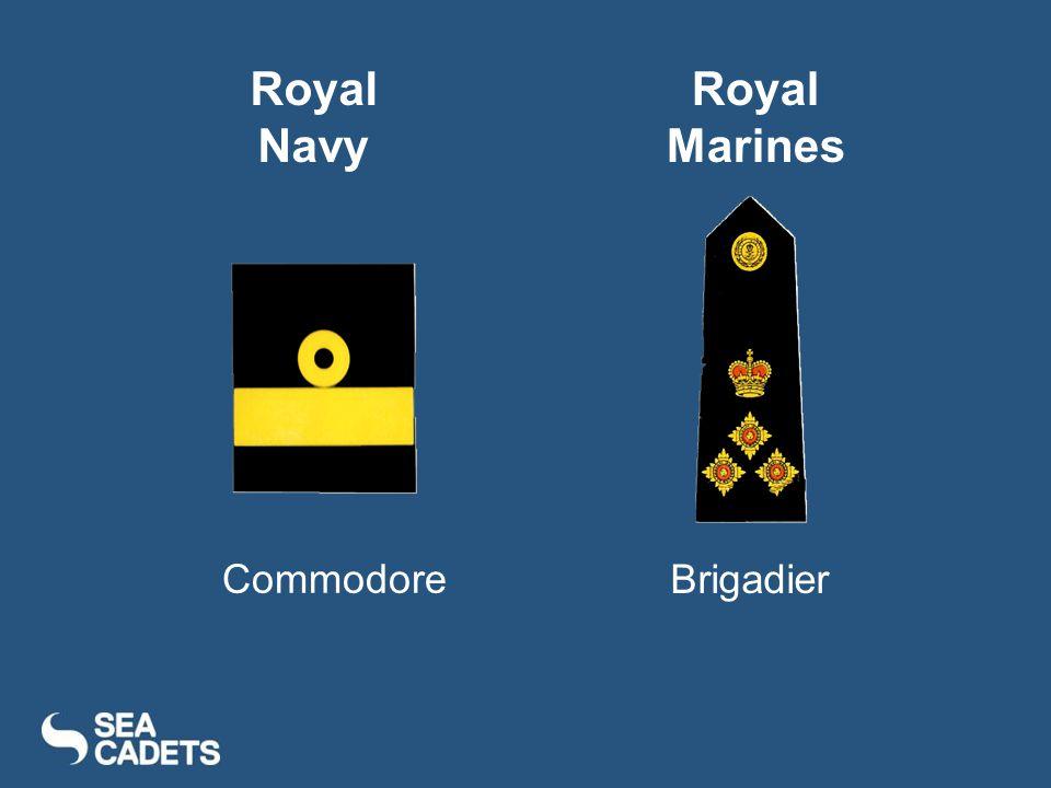 Commodore Brigadier Royal Navy Royal Marines