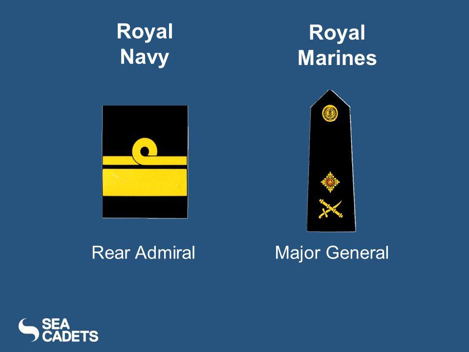 Rear AdmiralMajor General Royal Navy Royal Marines