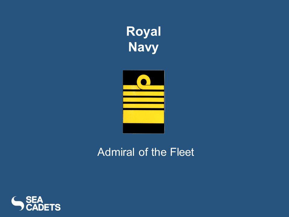 Admiral of the Fleet Royal Navy